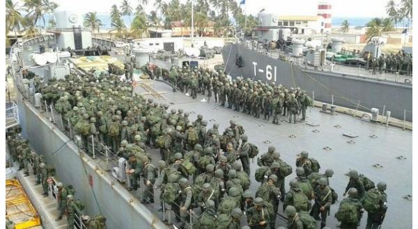 Los componentes de todas las fuerzas participaron en los ejercicios