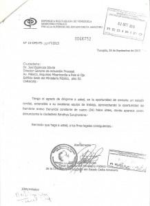 REMISION DE DENUNCIA A JOEL ESPINOZA 001