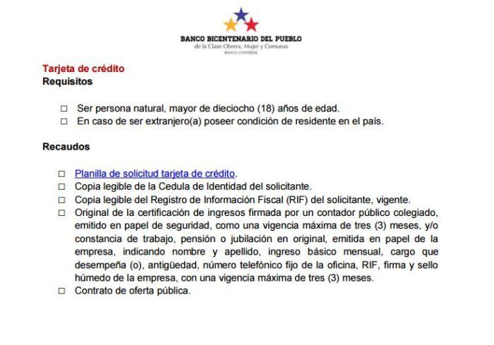 Requisitos Prestamo Personal Banco De Venezuela Dinero