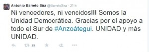 Antonio Barreto Sira Tweet