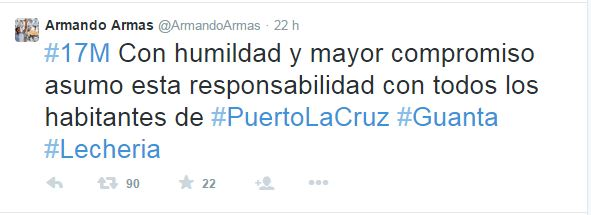 Armando Armas Tweet
