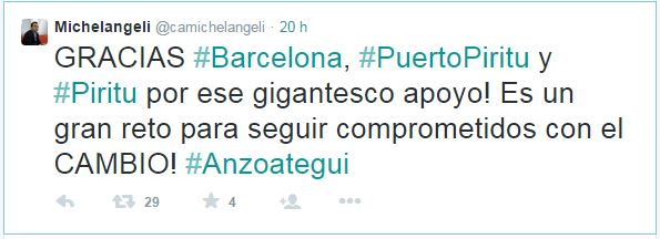Carlos Michelangeli Tweet