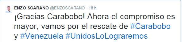 Enzo Scarano Tweet