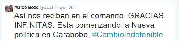 Marco Bozo Tweet