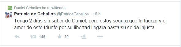 Patricia de Ceballos Tweet