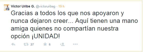 Victor Uribe Tweet