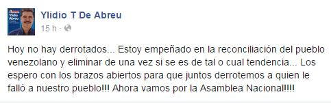 Ylidio Abreu Tweet