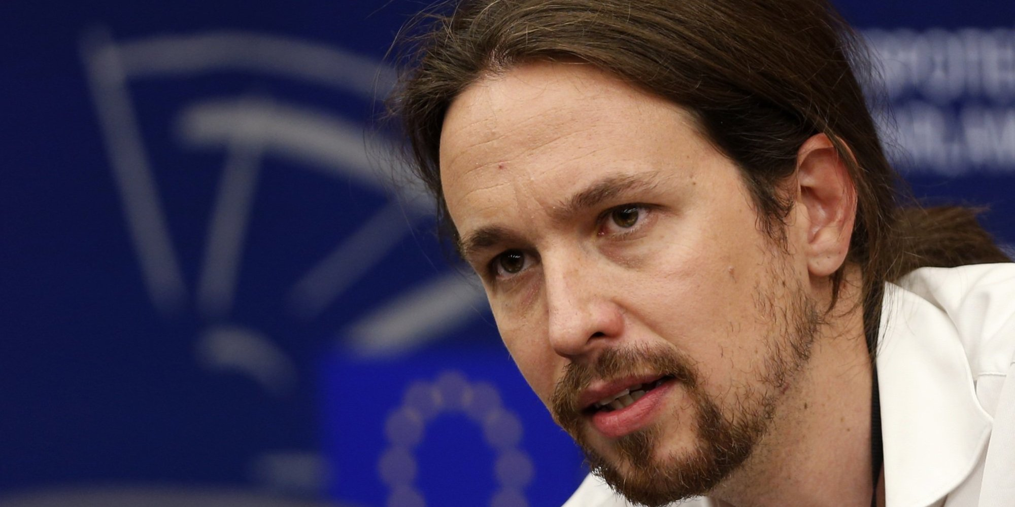 "Pablo Iglesias, head of leftist group ""Podemos"", or ""We Can"", addresses journalists during a press briefing at the European Parliament in Strasbourg, July 1, 2014.  REUTERS/Jean-Marc Loos (FRANCE - Tags: POLITICS HEADSHOT)"