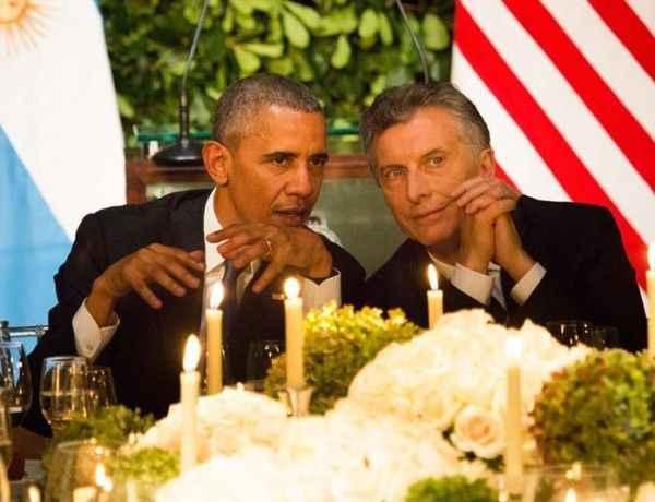 El presidente de Estados Unidos, Barack Obama: junto a su homólogo argentino Mauricio Macri durante una cena en su honor en Buenos Aires (Argentina).