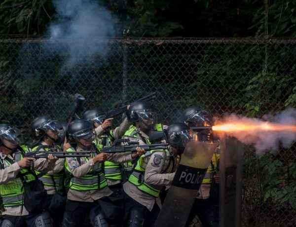 PNB dispara contra los manifestantes