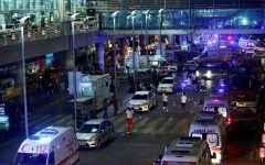 Servicios de seguridad y médicos en los alrededores del aeropuerto