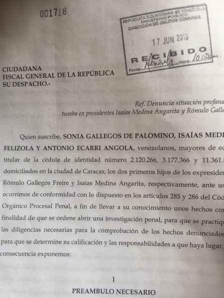 Profanación tumba Rómulo Gallegos