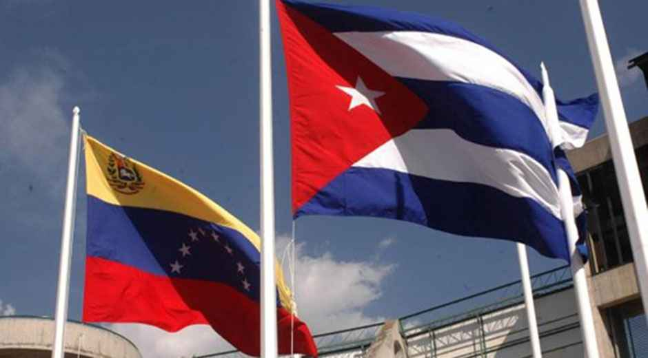 Bandera de Cuba en Venezuela