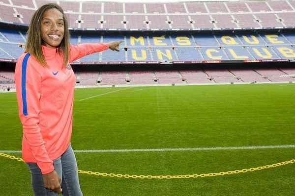Yulimar Rojas en el Camp Nou