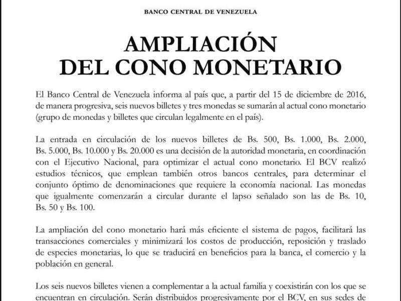 El 15 de diciembre entra en circulación el billete de 500 bolívares