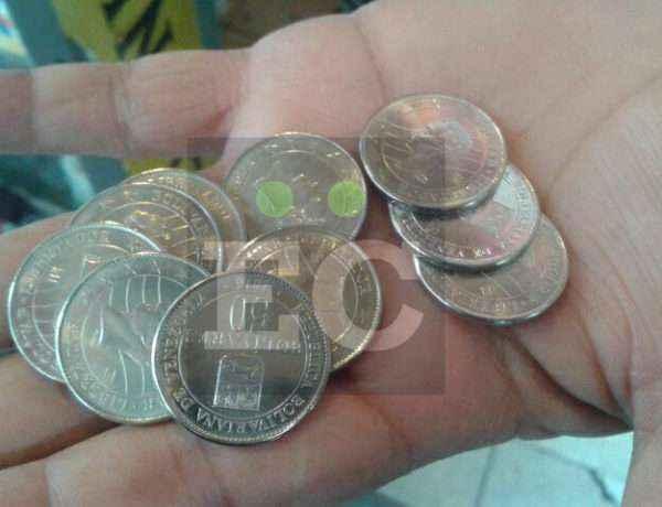 Nuevas monedas en la calle