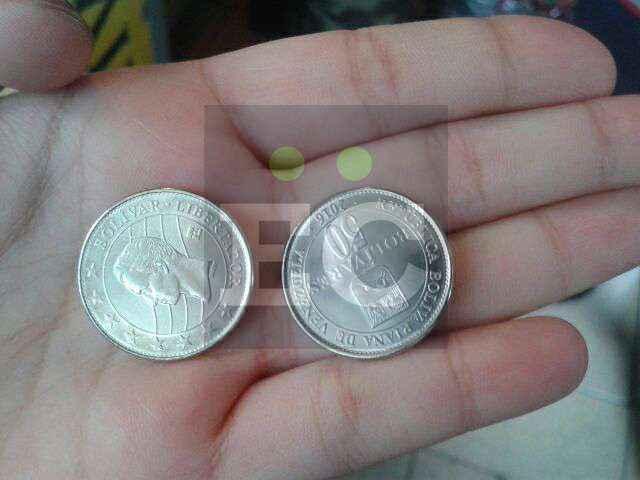 Amverso y reverso de las monedas nuevas de Bs 50