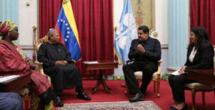 Mohammed Barkindo y Nicolás Maduro