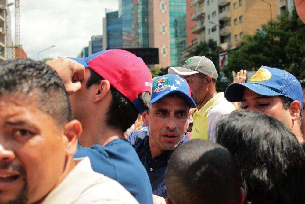 El Gobernador llegó hasta la avenida Libertador