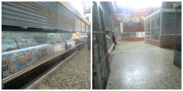 Locales cerrados del Mercado Guaicaipuro este 5 de enero de 2017.