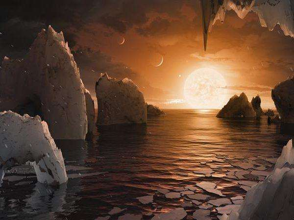 A tan solo 40 años luz de la Tierra hay un sistema estelar con siete planetas de masa similar al nuestro, tres de los cuales se encuentran en la zona habitable y podrían albergar océanos de agua en la superficie, lo que aumenta la posibilidad de que ese sistema pudiera acoger vida