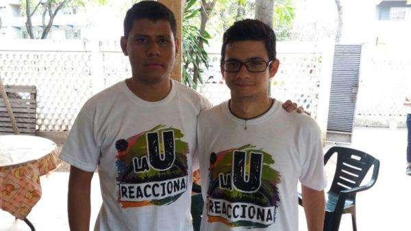 Keyber Guaraco y Carlos Benucci. Candidatos a la presidencia de la FCU por La U Reacciona