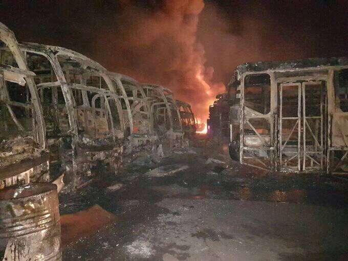 51 unidades de TransBolívar fueron incendiadas