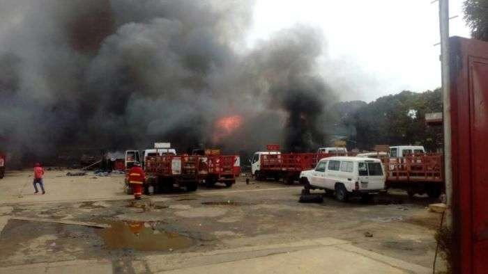 Reportan explosión en planta de gas en San Felix