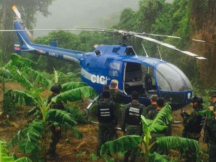 Localizan el helicóptero secuestrado que sobrevoló Caracas — Fotos