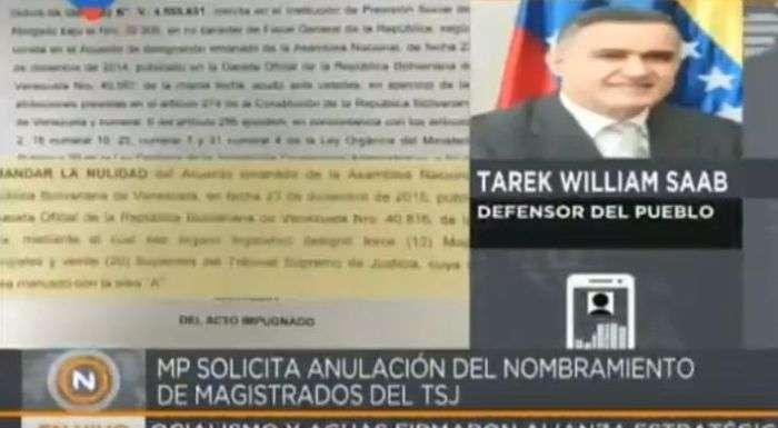 Fiscal venezolana solicitó autorización al Tribunal Supremo para enjuiciar a 8 magistrados