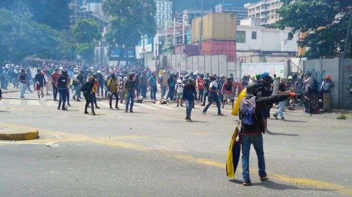 A la altura de Bello Campo comenzó la represión