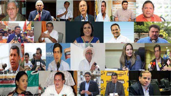 ¡UNO A UNO! 13 diputados, 4 alcaldes, 5 exgobernadores y 1 a la reelección, los candidatos de la MUD para las regionales