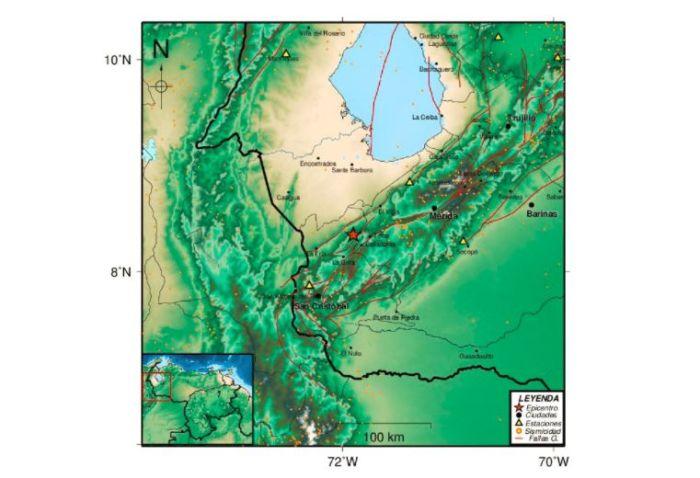 Sismo de magnitud 4,8 sacudió a los Andes en la madrugada este #18Nov