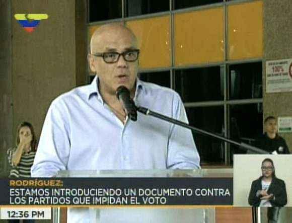 Rodríguez pidió al CNE evaluar participación de VP y PJ en presidenciales