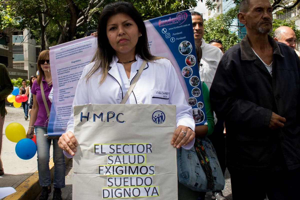 pacientes crónicos protestaron