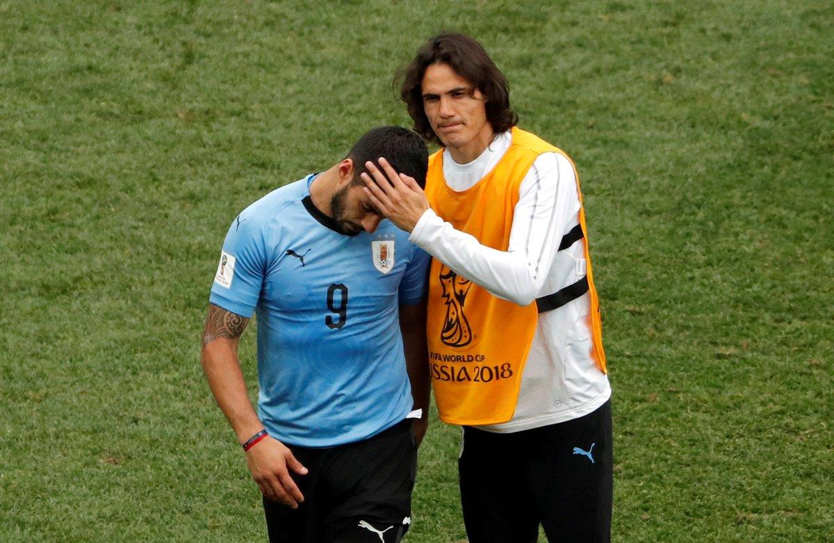 Cavani anotó tres goles en la copa mundial