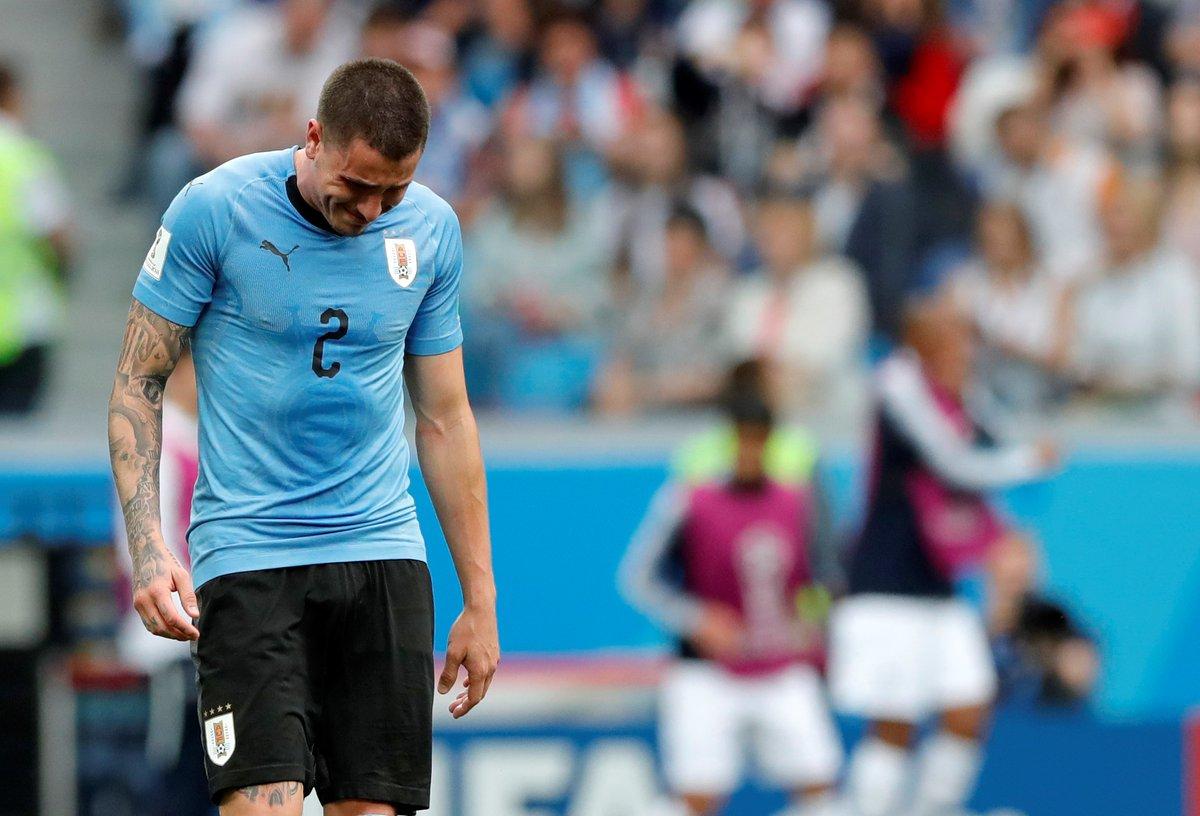 José María Giménez marcó un gol para Uruguay en el primer partido