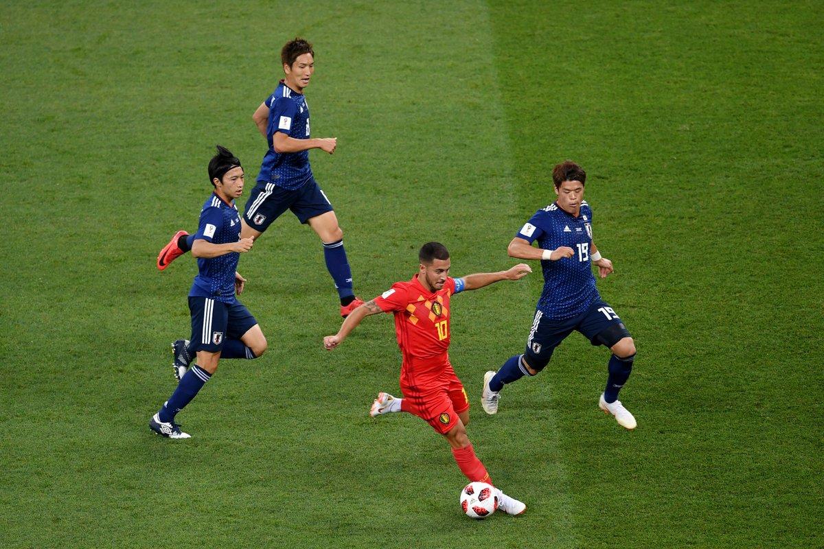 Bélgica venció a Japón con un gol in extremis