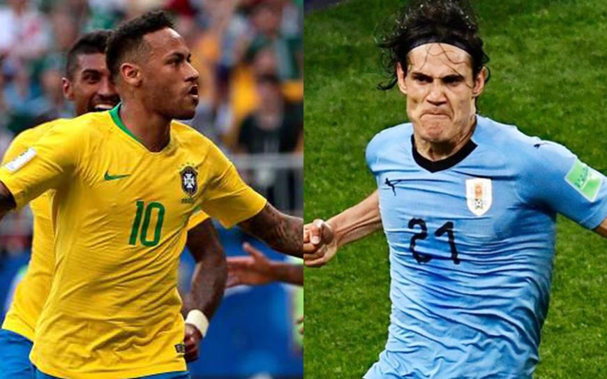 Uruguay y Brasil se podrían enfrentar en simifinales