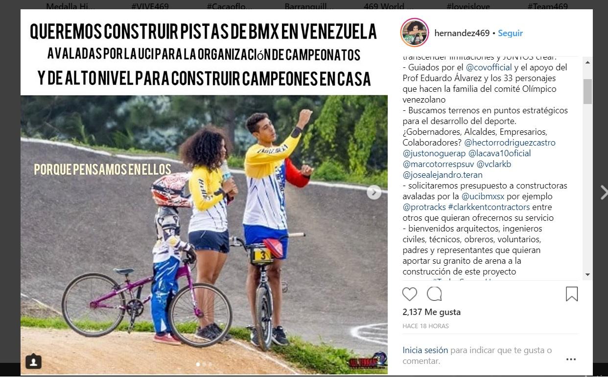 Stefany Hernández BMX venezuela