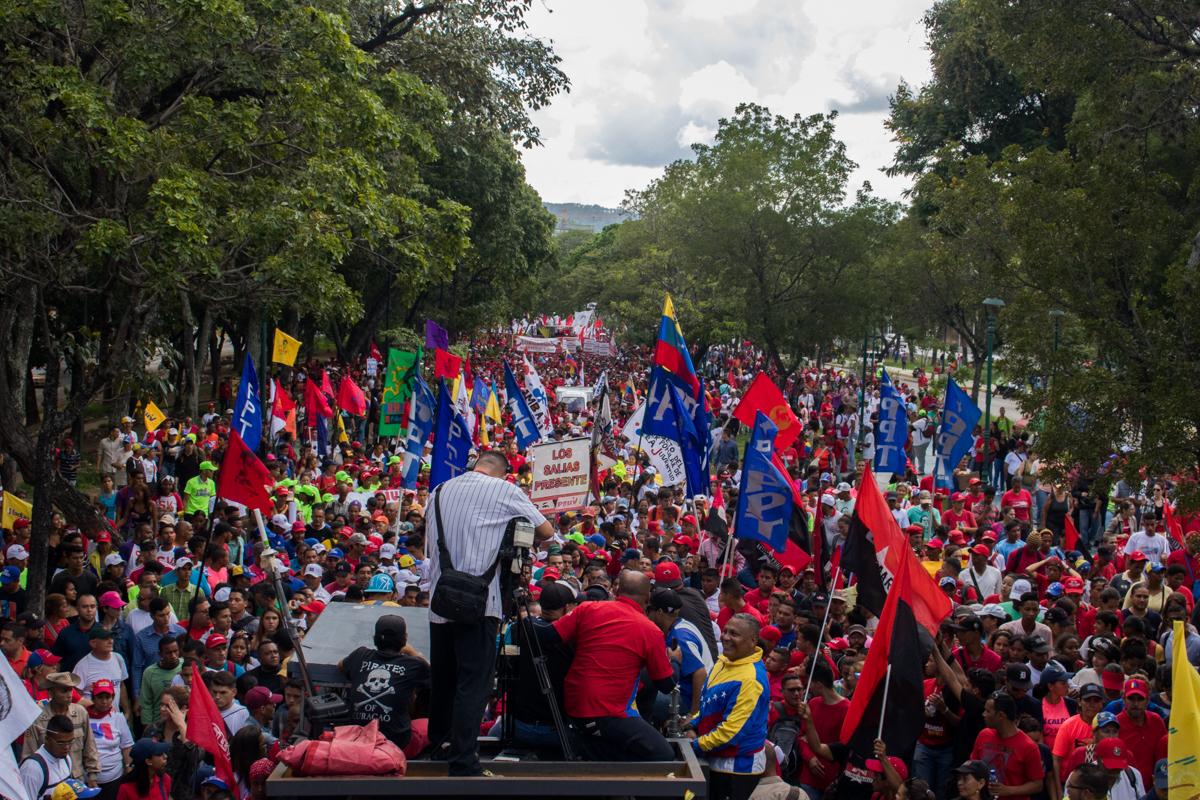 chavistas marcharon 5 de octubre
