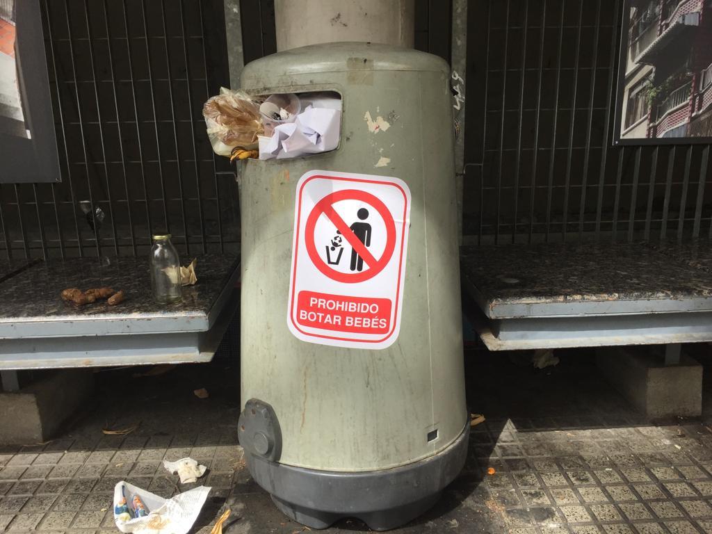 En la Plaza los Palos Grandes se alerta contra el abandono de niños