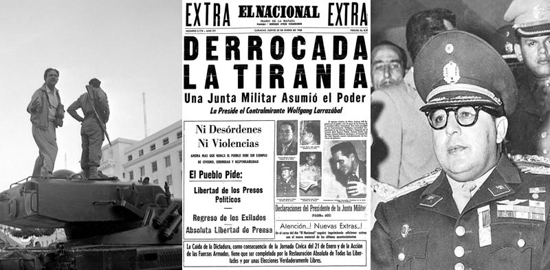 Pérez Jiménez huye y Venezuela entra en democracia