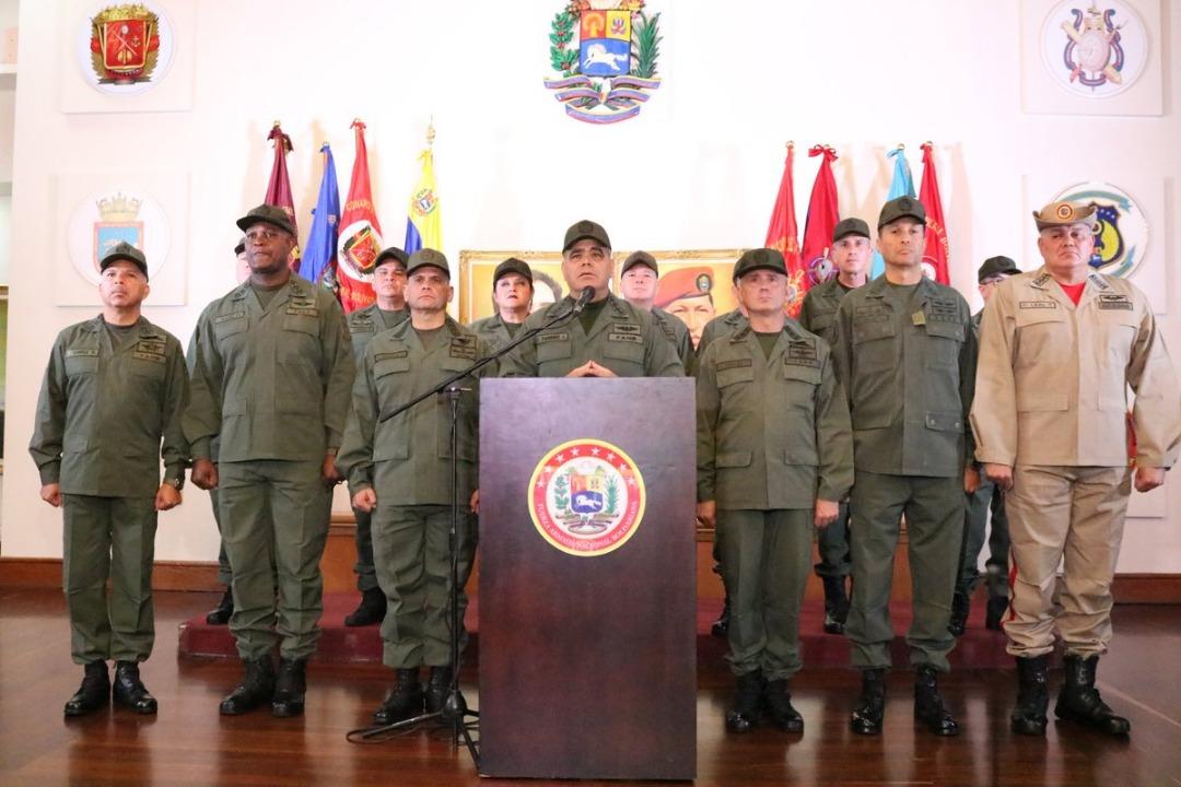 Militares. Padrino López Fanb-Guayana-Grupo de Lima-8ENE
