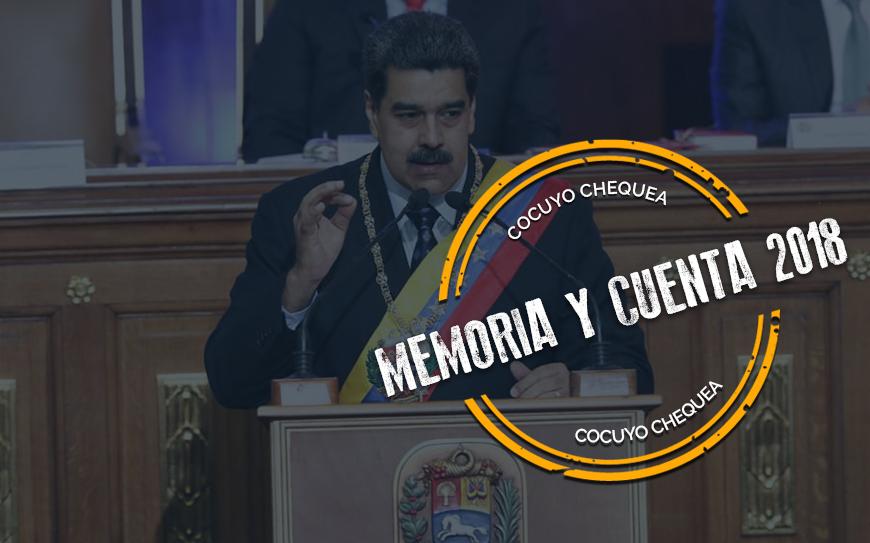 ¿Será verdad lo dicho por Maduro en la Memoria y Cuenta 2018?