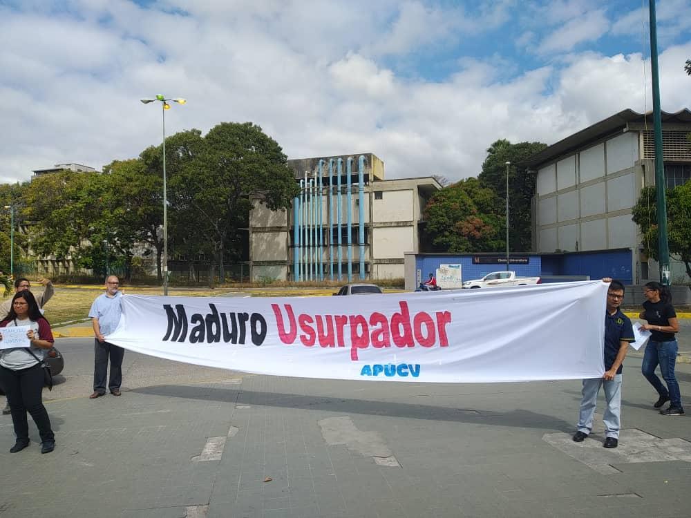 Protesta APUCV APUFAT 18ENE2019