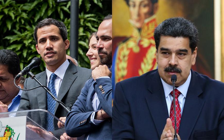 Maduro y Guaidó 25 de enero