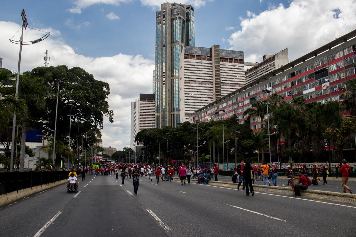 Maduro no llenó la Av Bolívar