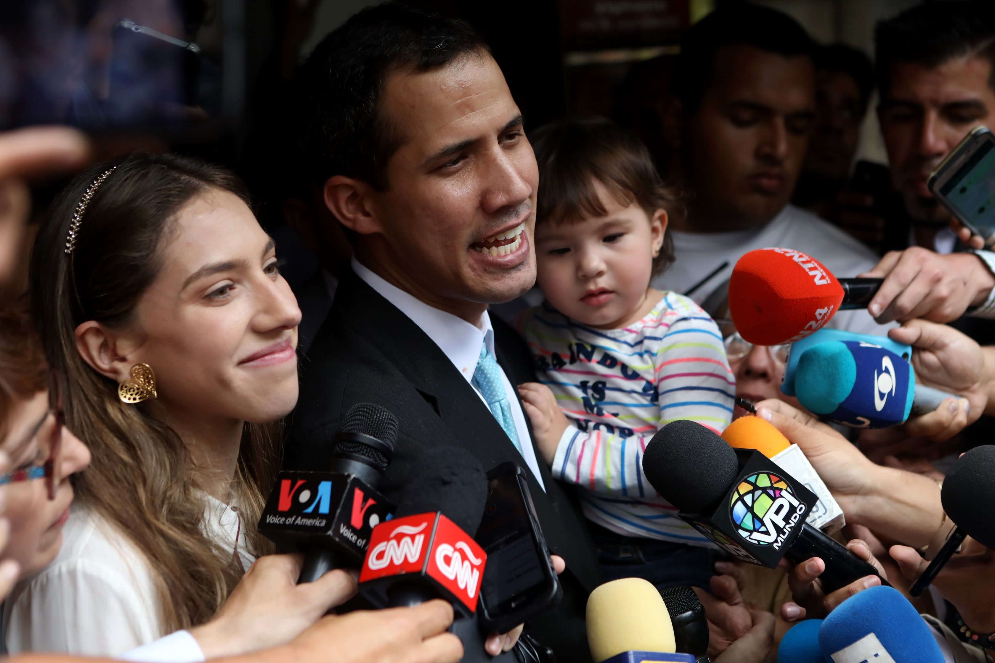 Guaidó en foto familiar