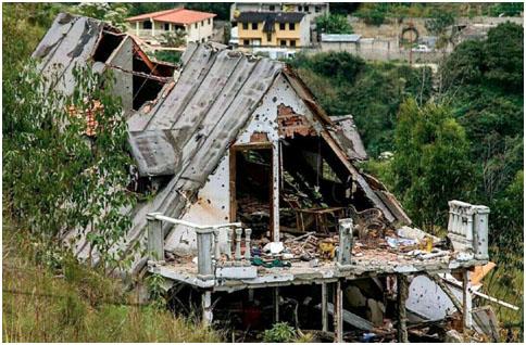 Casa donde se escondía Oscar Pérez